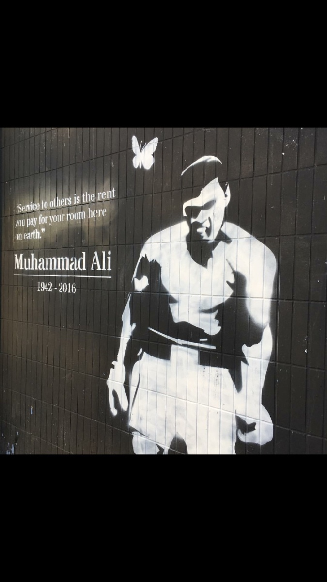 """Service to other is the rent you pay for your room here on earth"" Muhammad Ali 1942-2016"